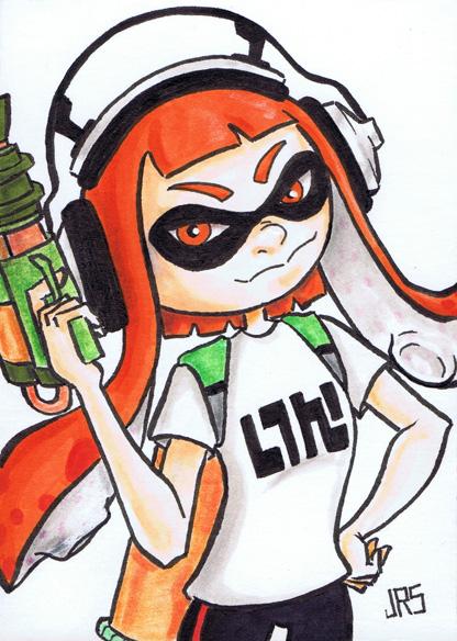 Splatoon Squid Girl [sc1] by JRS-ART
