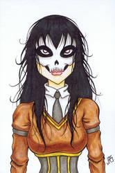 Skull Face Schoolgirl [46a] by JRS-ART