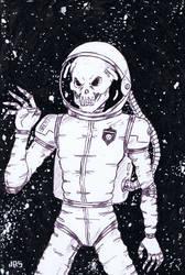 Skull Astronaut [46a] by JRS-ART
