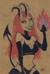 Demon Girl [46a] by JRS-ART