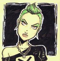 Green Hair [p1] by JRS-ART