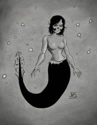 Skull Girl Mermaid by JRS-ART