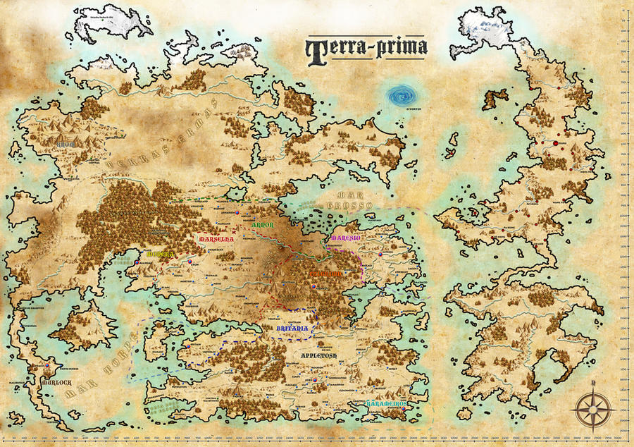 Fantasy World Map Terra Prima by ronaldbkg on DeviantArt