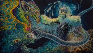 Communion - painting by Ka Amorastreya by serpentfeathers
