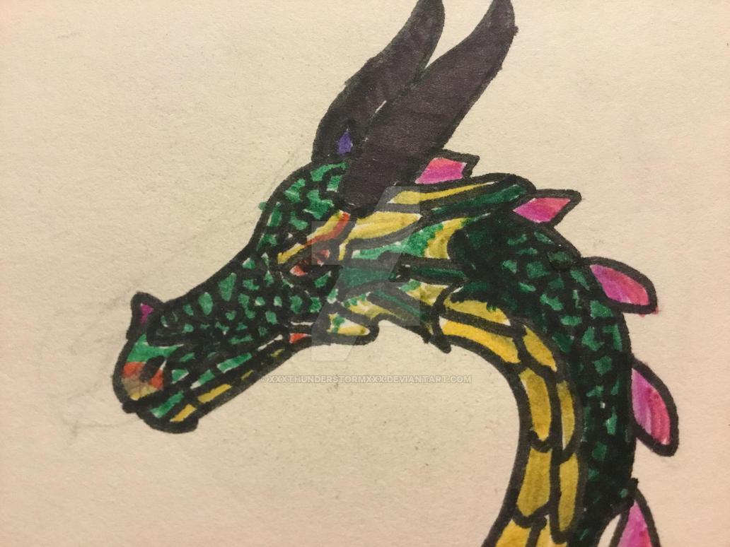 First realistic dragon by xXXThunderstormXXx