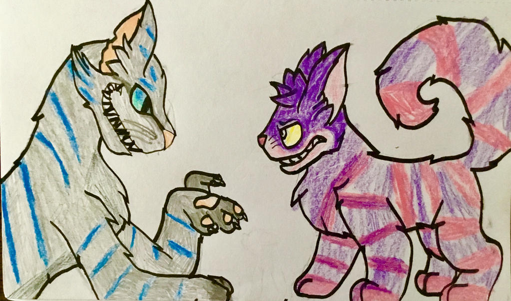 Two Cheshire cats by xXXThunderstormXXx