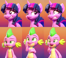 Twilight Spike Expressions