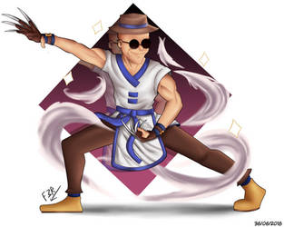 King of Fighters: Choi Bounge -Fan Art-. by Ferguzt