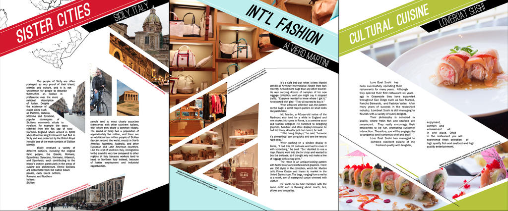 Magazine Pages Design
