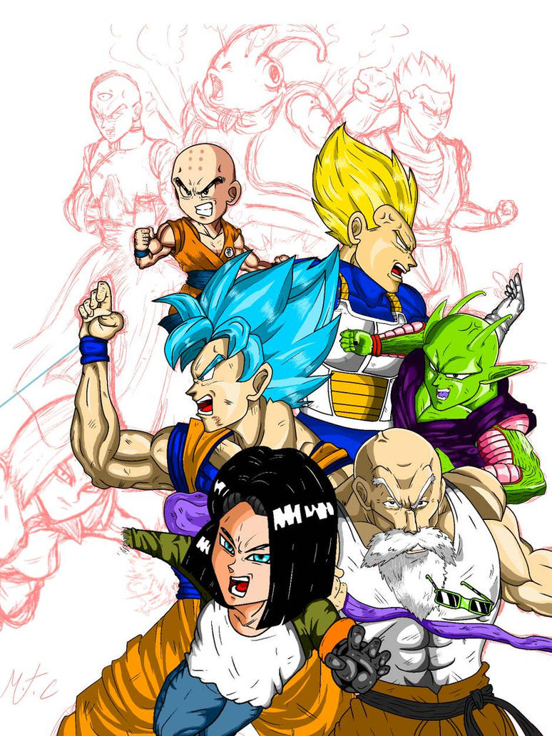 Universe 7 SQUAD!! by marceldraws96