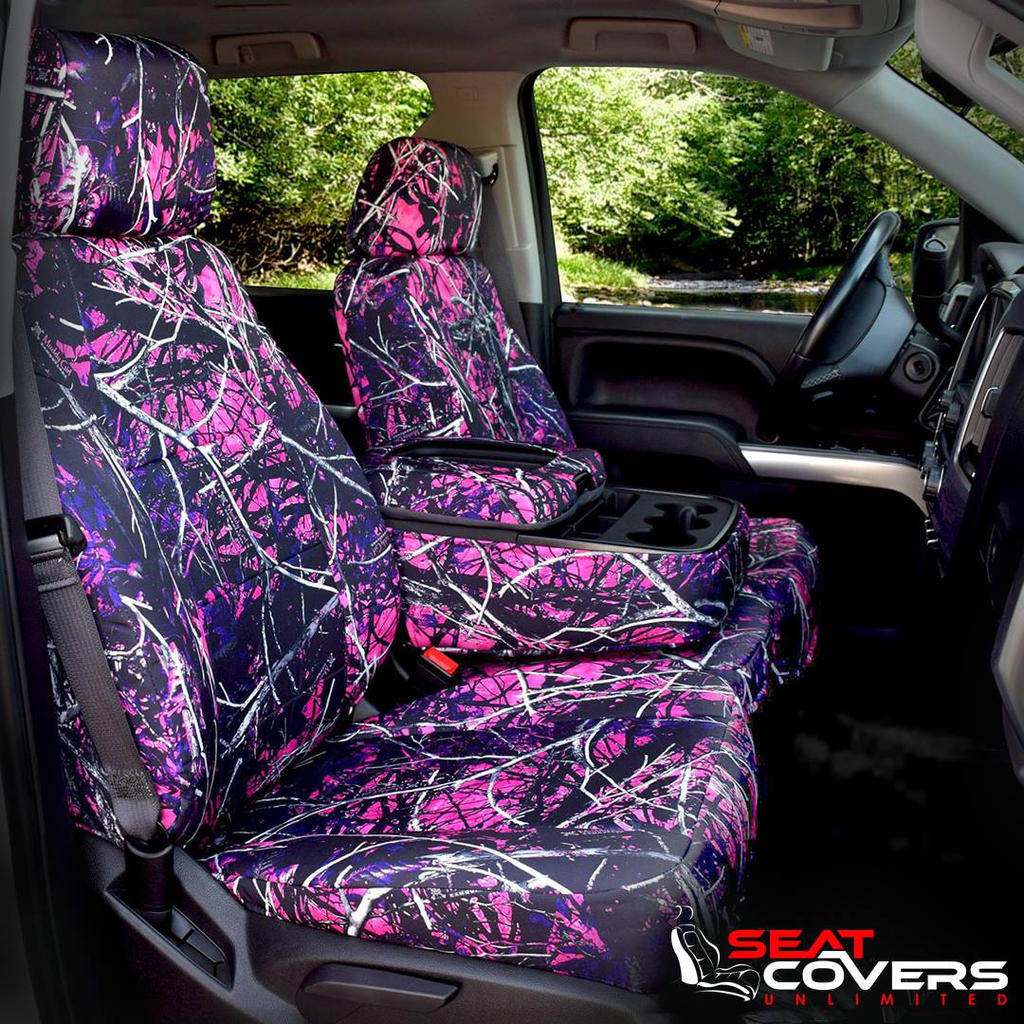 Girls Neon Pink Camo Seat Covers Camouflage Seats By
