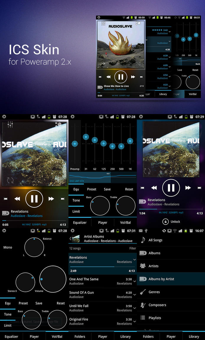 Poweramp ICS Skin by ikorolkov