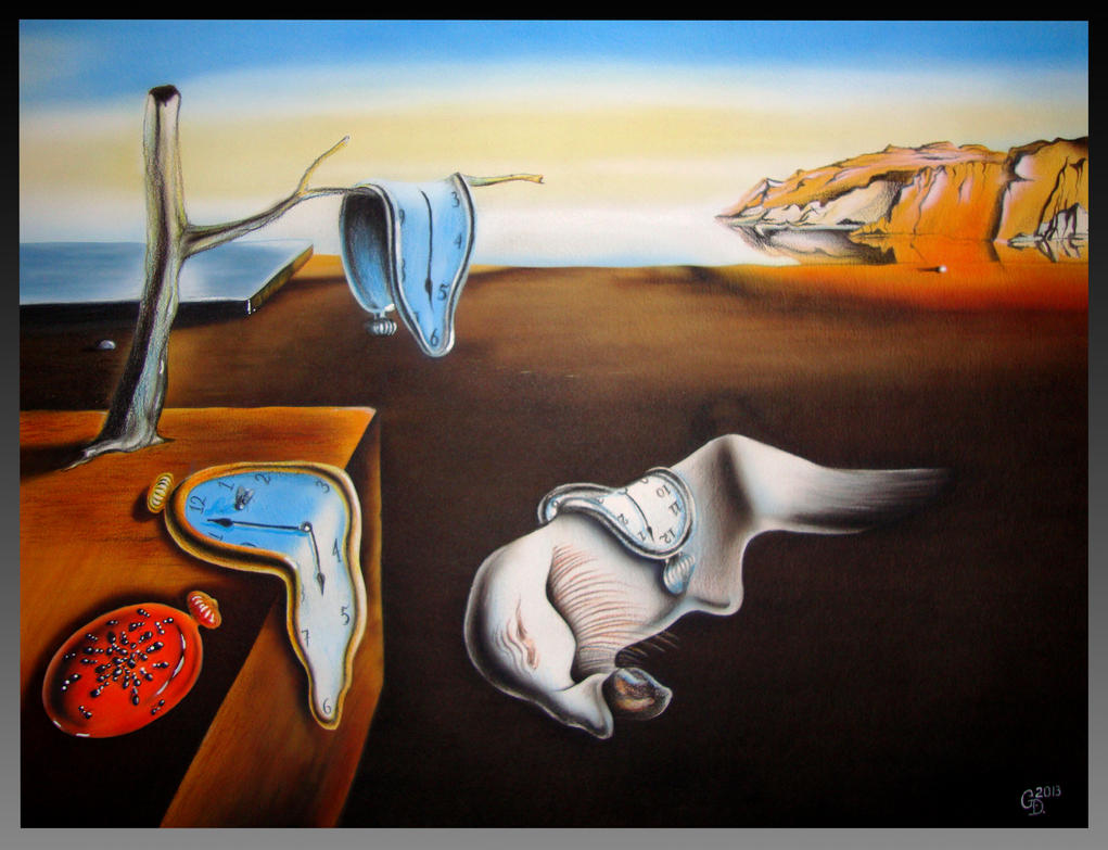 salvador dali persistence of memory by lutique on deviantart