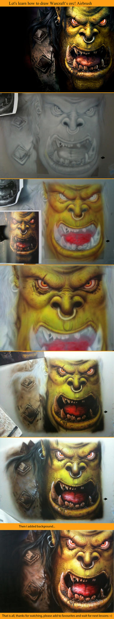 Warcraft's orc. Step-by-step. by Lutique