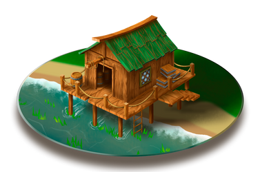 Pier. Game Isometric Art by Lutique