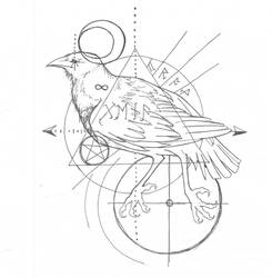 Crow Tattoo Design by 6-uNiCoRn-CrOsSiNg-9