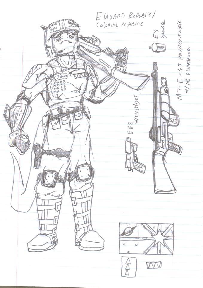 Lylat Fanon - Eladard Soldier by SirChristopher