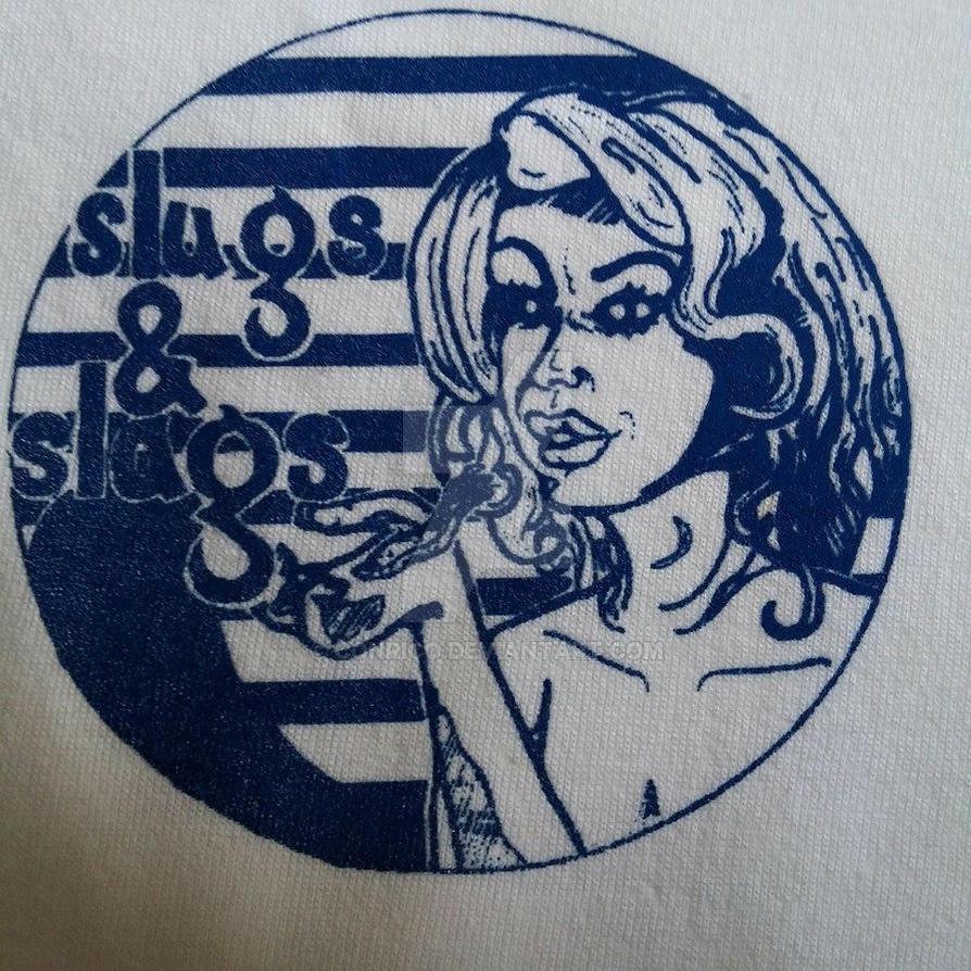Close up Slugs and Slags badge by Conrico