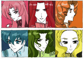 Utena duelists by methcooker