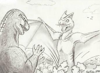 Godzilla vs Megachidradon by Neil-Skywalker