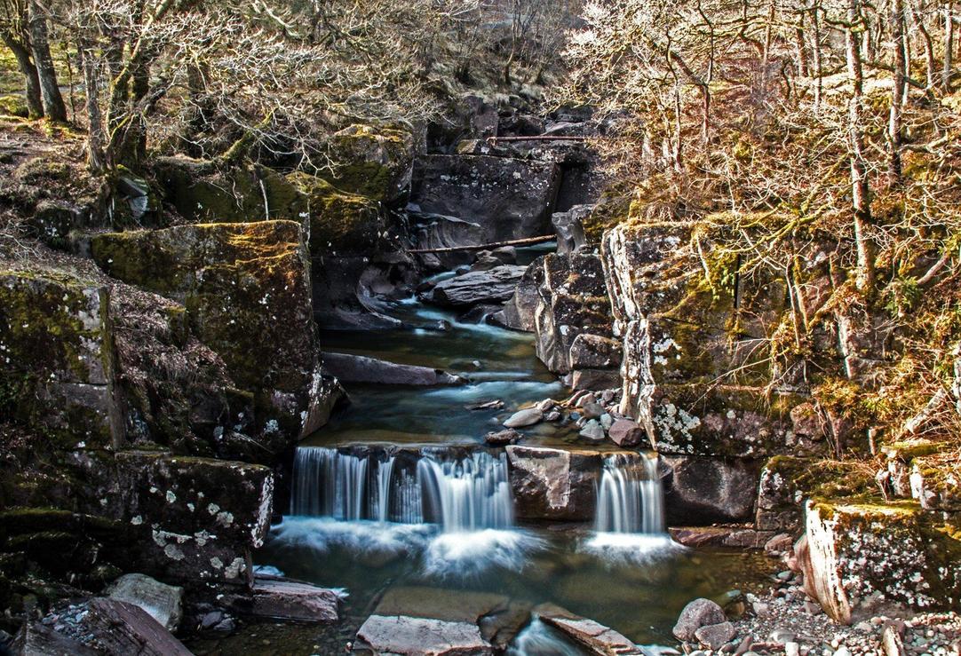 Bracklinn Falls nr. Callander Scotland by Rebacan