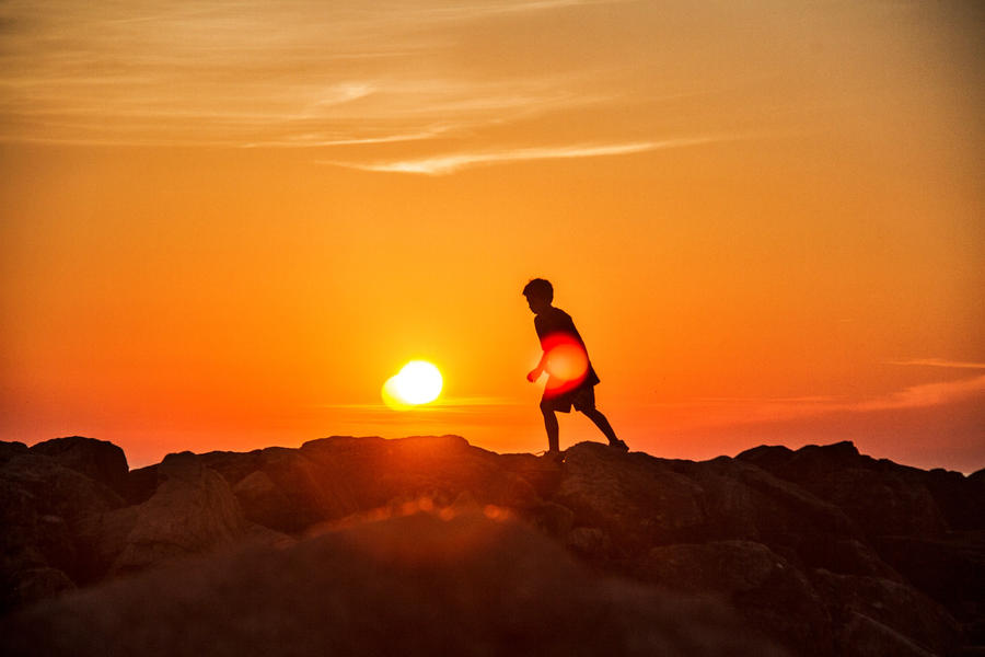Boy on Shore by Rebacan