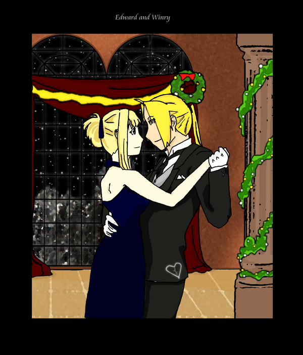 Edward and Winry Ball by Crystallii