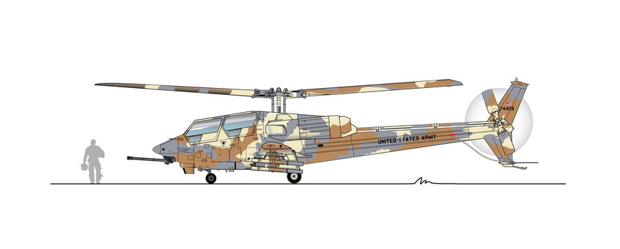 YAH-63 profile Camouflage by alanqua