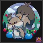 Pokemon Fanart - 08 - Skwovet (Artlocke)