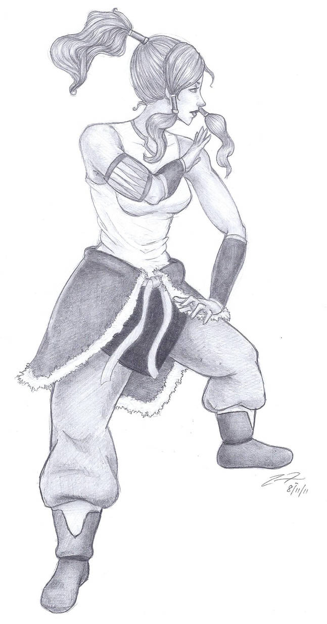 Korra - Battle Stance - Sketch