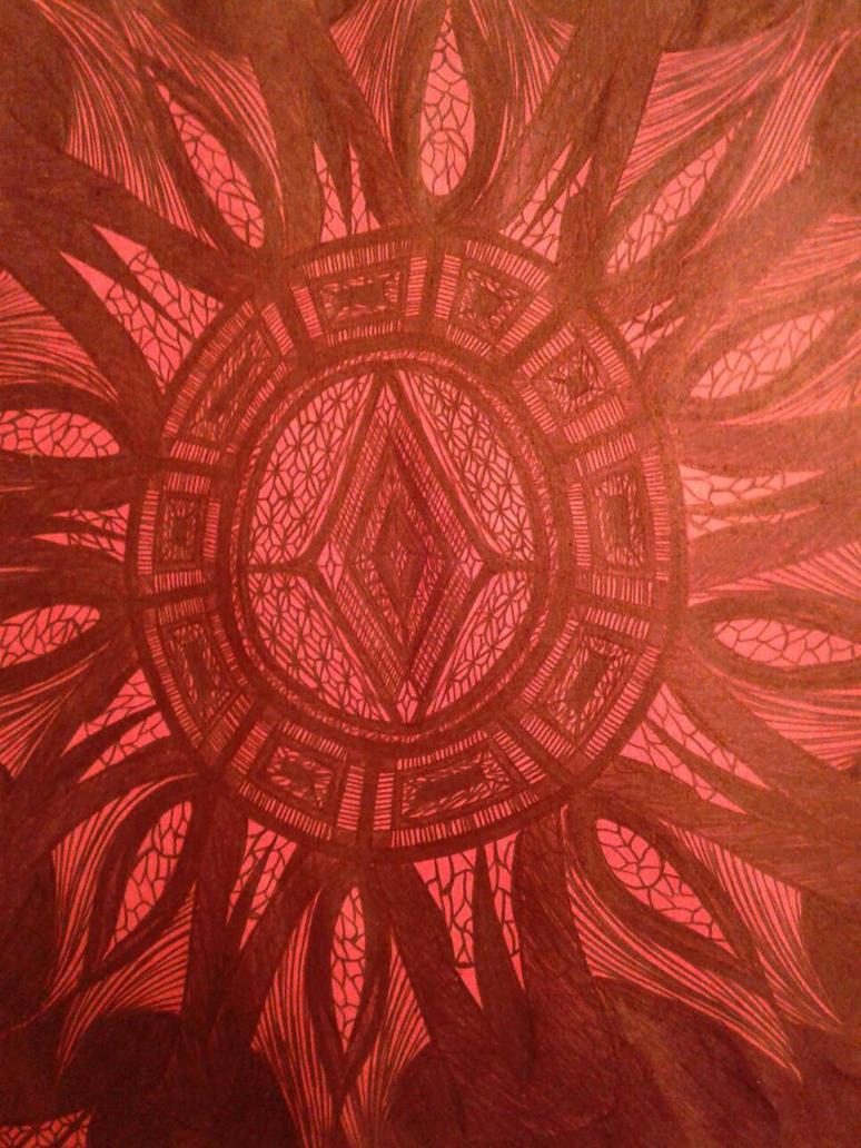red diamond circle  by artistartstudio