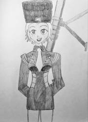 Lieutenant Kitsurubami (with rifle) by CartoonBattalion