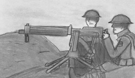 100th Machine Gun Company by CartoonBattalion