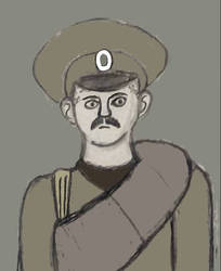 Russian soldier (colored) by CartoonBattalion