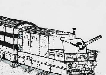 Armored Train by CartoonBattalion