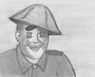 The Smiling Soldier by CartoonBattalion