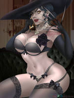 Lady Dimitrescu - Lingerie version by Arilynluna