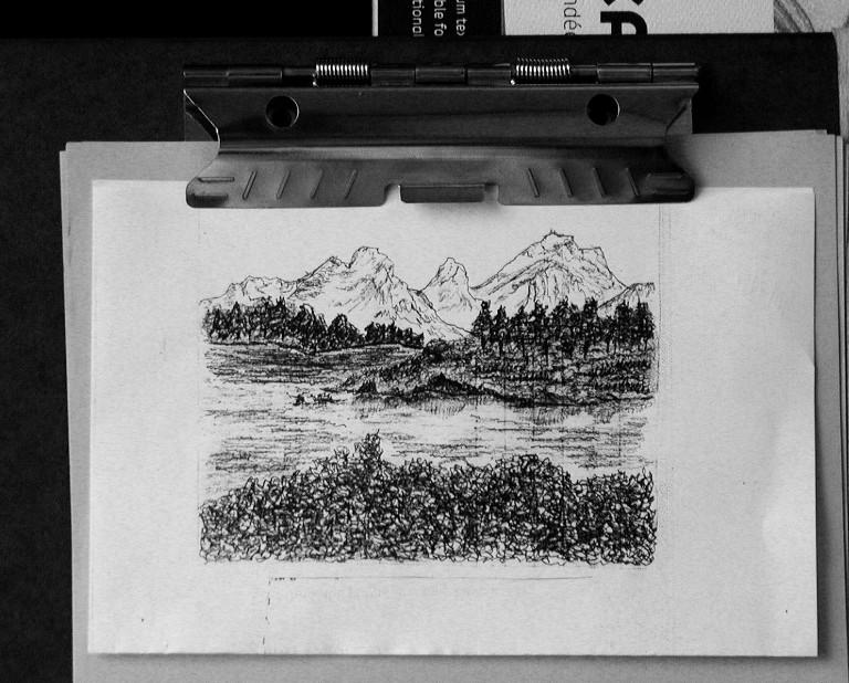Doodle Of Mountain by msfreddiemercury