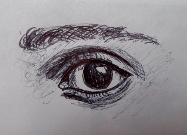 Doodle of Freddie's Eye by msfreddiemercury