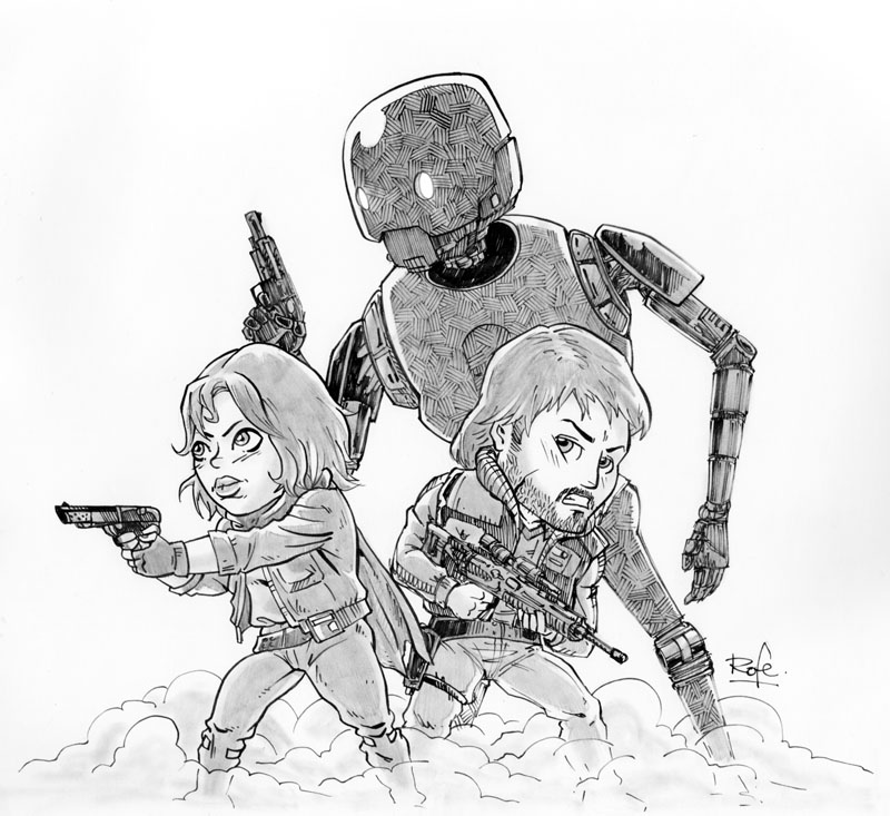 Rogue One - Version solo grises by Rofelogos