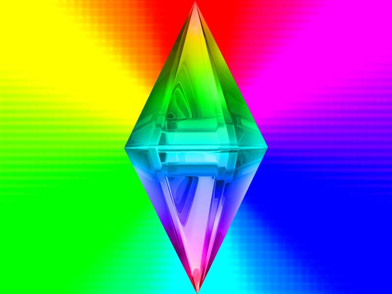 Sims  Rainbow Gelatin Cake Glitch