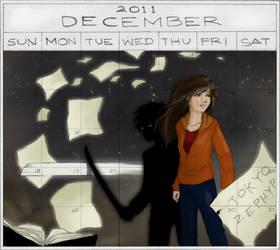 Tokyo Zephyr - December Calendar- Coloured
