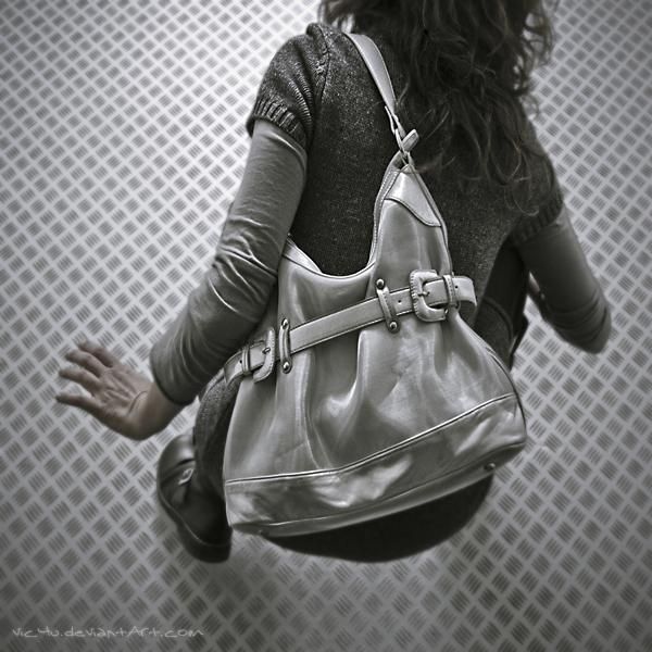 the gray metal bag by Vic4U