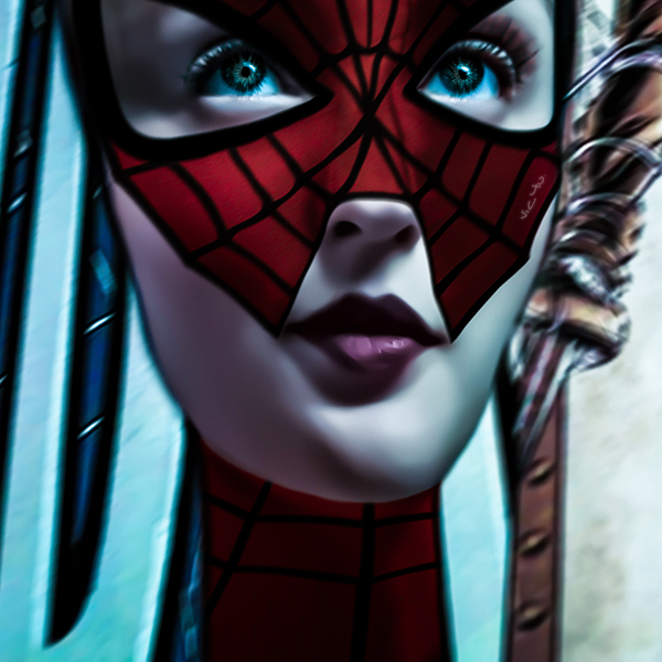DOLL(s) . SPIDERGIRL (detail) by Vic4U