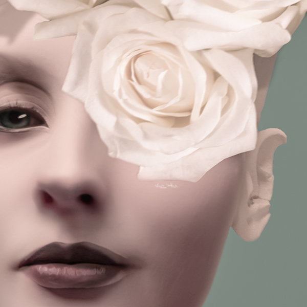 LADY WITH ROSES (detail) by Vic4U