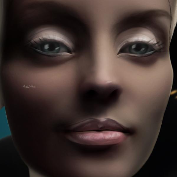 NEFERTITI (detail) by Vic4U