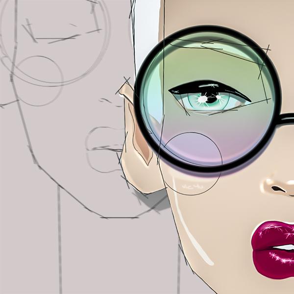 Sketched Girl (crop) by Vic4U