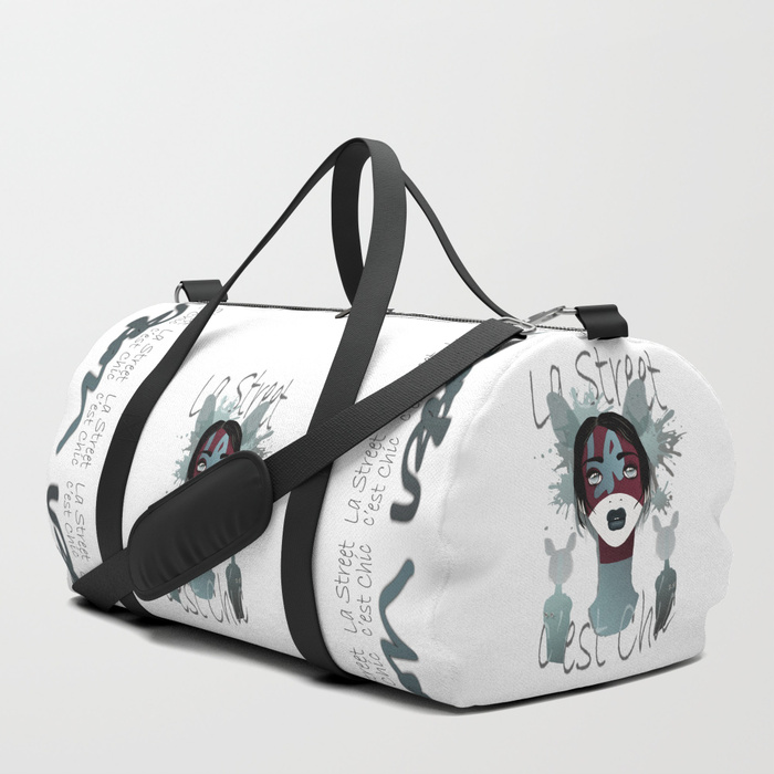 Vanda-l-was-here-duffle-bags by Vic4U