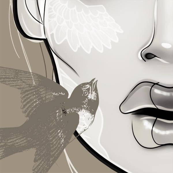 SWALLOWS MAKE SPRING (detail) by Vic4U