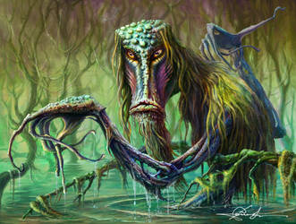 The marsh monster by PavelE